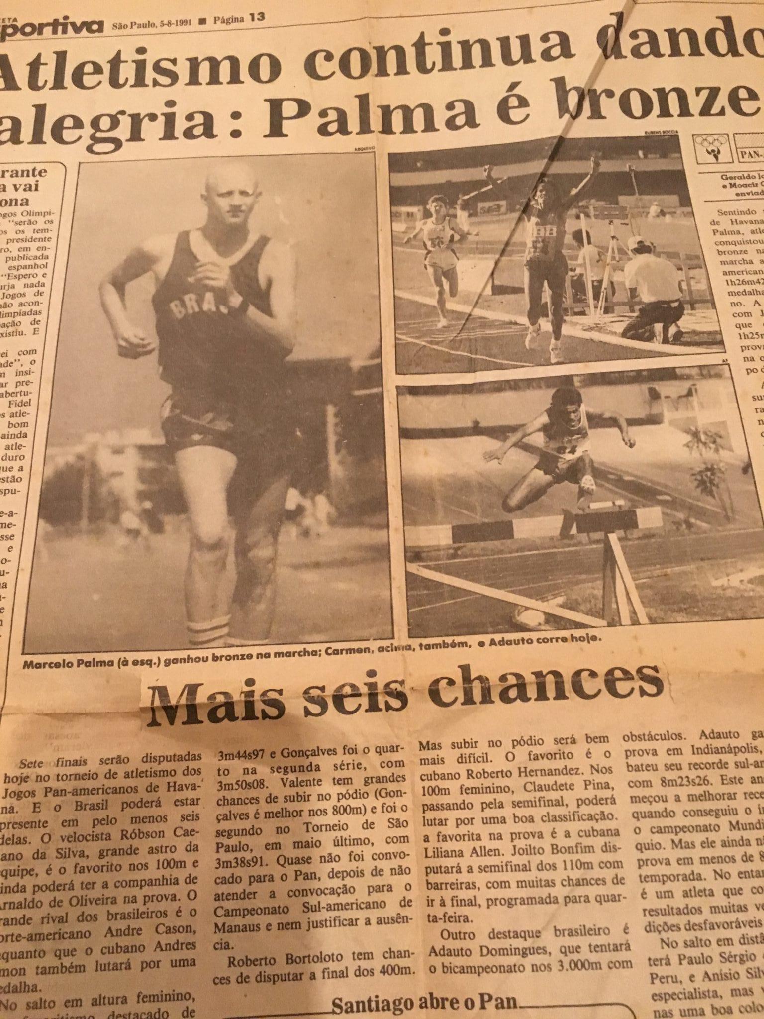 Psicólogo do Esporte Marcelo Moreira Palma, trazendo medalha para o Brasil quando atleta.